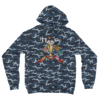 Lago Boys Coat of Arms Camouflage Adult Hoodie