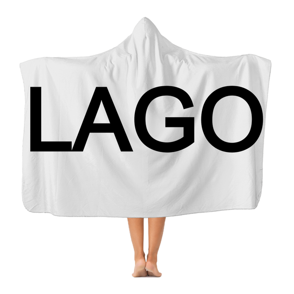 LAGO BLACK Premium Adult Hooded Blanket