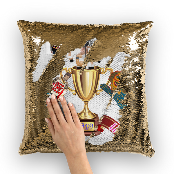 Lago Boys Coat of Arms Sequin Cushion Cover