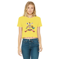 Lago Boys Coat of Arms Classic Women's Cropped Raw Edge T-Shirt