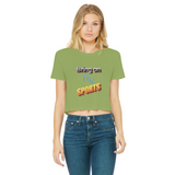 Bring On The Sports Classic Women's Cropped Raw Edge T-Shirt