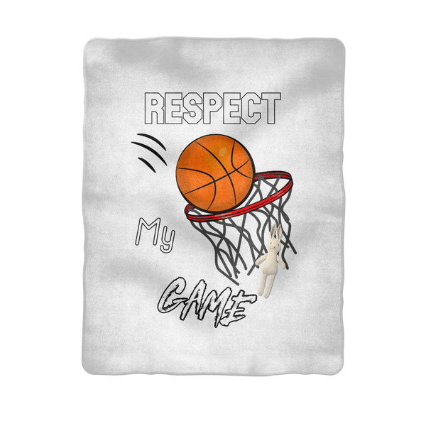 Respect My Game Sublimation Baby Blanket