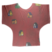 Mom's Houses Sublimation Batwing Top