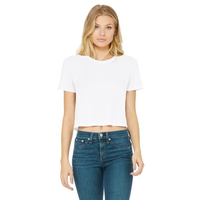 I Stay Up Late At Night Classic Women's Cropped Raw Edge T-Shirt