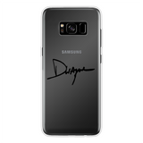 Dwayne Signature Series™ Back Printed Transparent Soft Phone Case