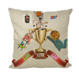 Lago Boys Coat of Arms Throw Pillows