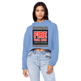 Fire Your Boss And Go Racing Unisex Cropped Raw Edge Boyfriend Hoodie
