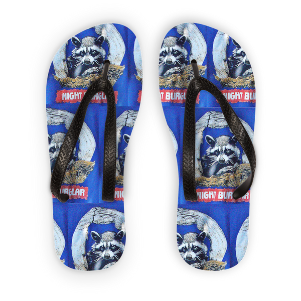 Night Burglar Adult Flip Flops
