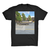 Camouflaged Van In Its Natural Setting Organic Adult T-Shirt