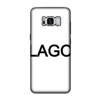 LAGO BLACK Fully Printed Tough Phone Case