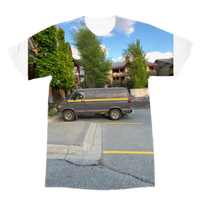 Camouflaged Van In Its Natural Setting Premium Sublimation Adult T-Shirt