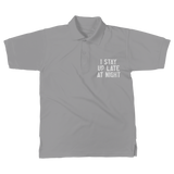 I Stay Up Late At Night Classic Women's Polo Shirt
