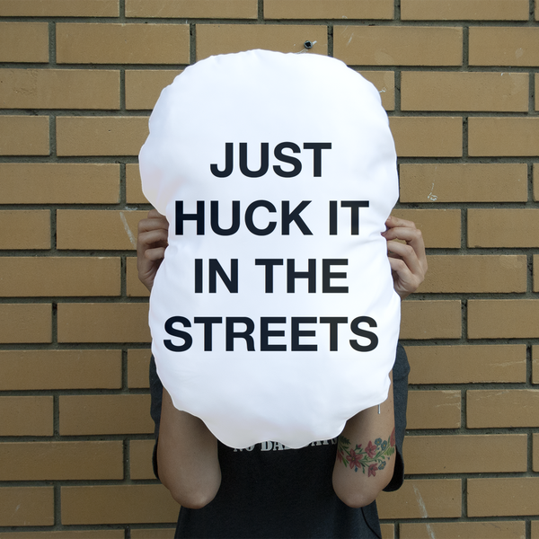 huck it Giant Face Cushion
