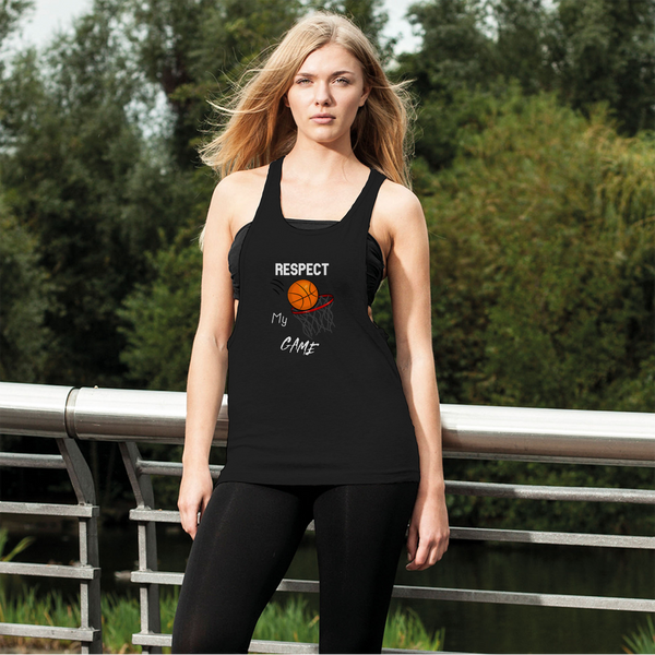 Respect My Game Women's Loose Racerback Tank Top