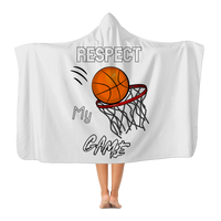 Respect My Game Premium Adult Hooded Blanket