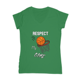 Respect My Game Classic Women's V-Neck T-Shirt