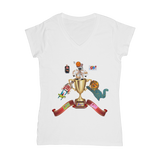 Lago Boys Coat of Arms Classic Women's V-Neck T-Shirt