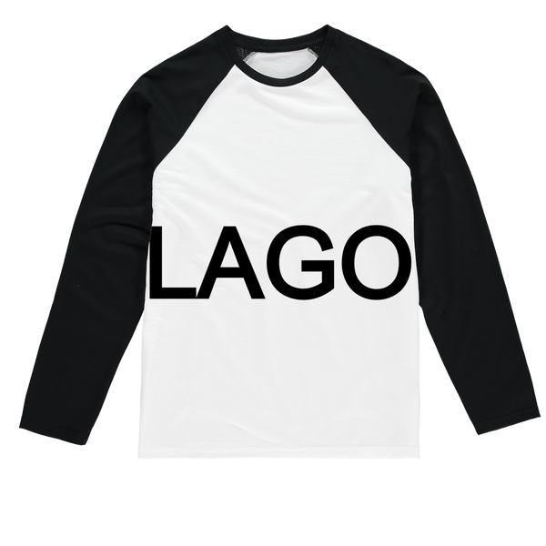 LAGO BLACK Sublimation Baseball Long Sleeve T-Shirt