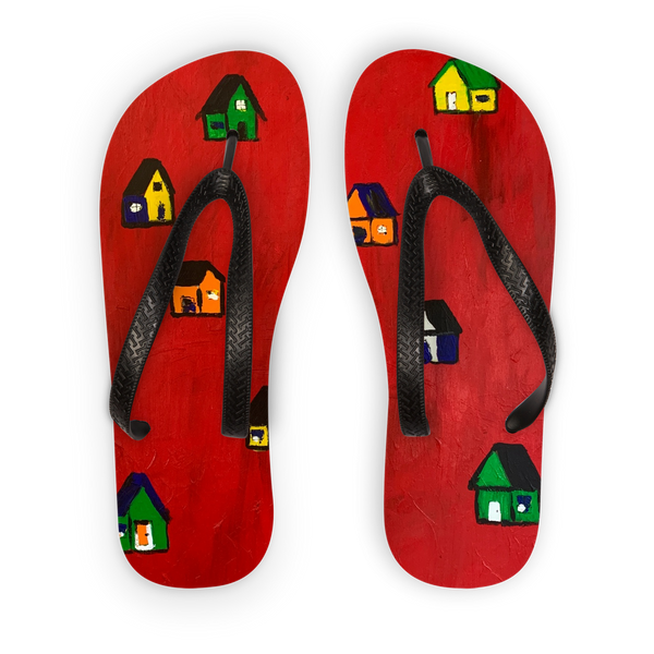 Mom's Houses Kids Flip Flops