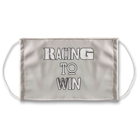 Racing To Win Sublimation Face Mask