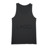 LAGO BLACK Organic Jersey Womens Tank Top