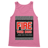 Fire Your Boss And Go Racing Classic Women's Tank Top