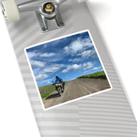Motorbiking and the Sky Kiss-Cut Stickers