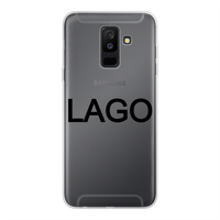 LAGO BLACK Back Printed Transparent Soft Phone Case