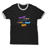 I'm Just a Dad On The Internet Having A Great Time Adult Ringer T-Shirt