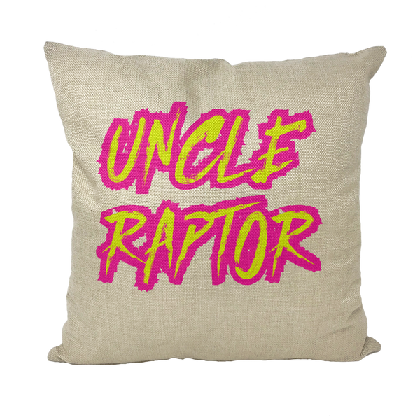 Uncle Raptor Throw Pillows