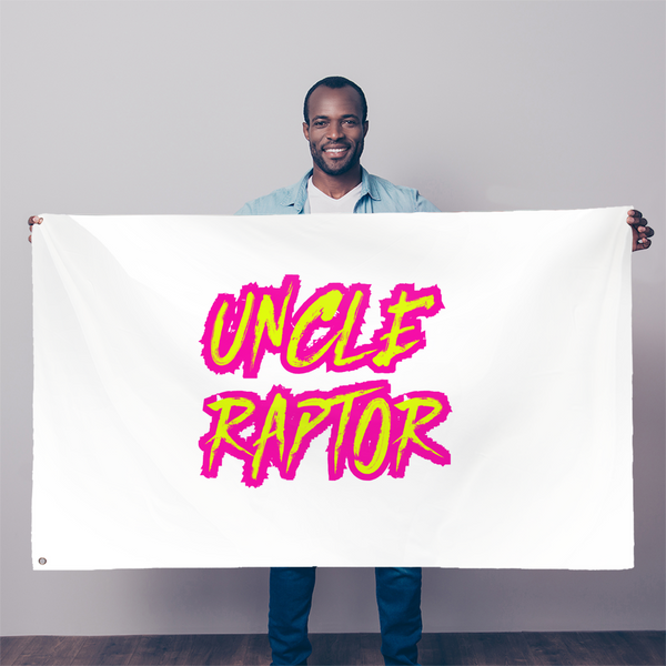 Uncle Raptor Sublimation Flag