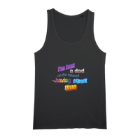 I'm Just a Dad On The Internet Having A Great Time Organic Jersey Womens Tank Top
