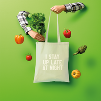 I Stay Up Late At Night Shopper Tote Bag