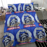 Night Burglar Raccoon Bedding Set