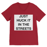 huck it Premium V-Neck T-Shirt
