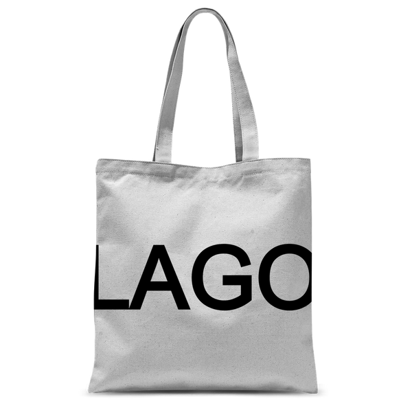 LAGO BLACK Classic Sublimation Tote Bag