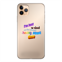 I'm Just a Dad On The Internet Having A Great Time Back Printed Transparent Soft Phone Case