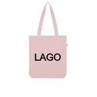 LAGO BLACK Organic Tote Bag