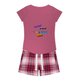 I'm Just a Dad On The Internet Having A Great Time Girls Sleepy Tee and Flannel Short