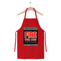 Fire Your Boss And Go Racing Premium Jersey Apron