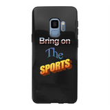 Bring On The Sports Back Printed Black Soft Phone Case