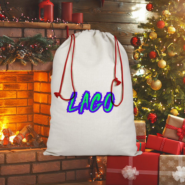 ELECTRIC NEON LAGO Sublimation Linen Drawstring Sack