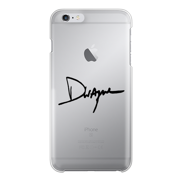 Dwayne Signature Series™ Back Printed Transparent Hard Phone Case