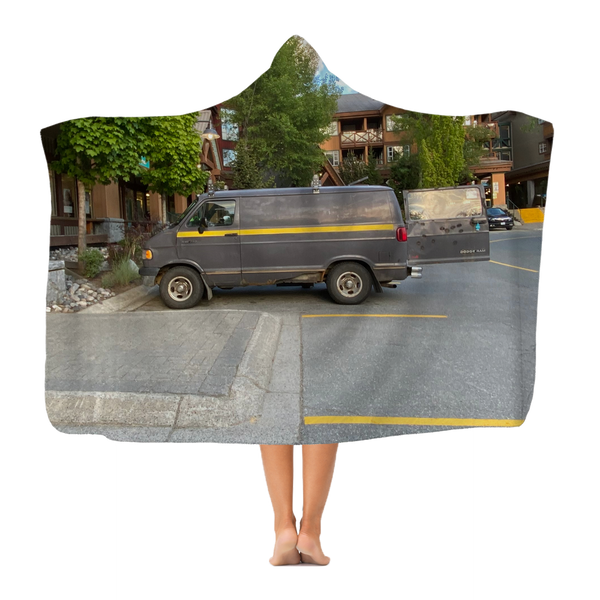 Camouflaged Van In Its Natural Setting Classic Adult Hooded Blanket