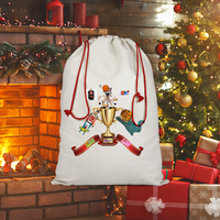 Lago Boys Coat of Arms Sublimation Linen Drawstring Sack