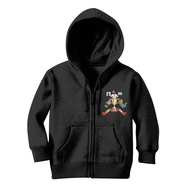 Lago Boys Coat of Arms Classic Kids Zip Hoodie