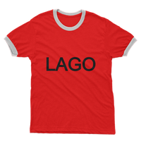 LAGO BLACK Adult Ringer T-Shirt