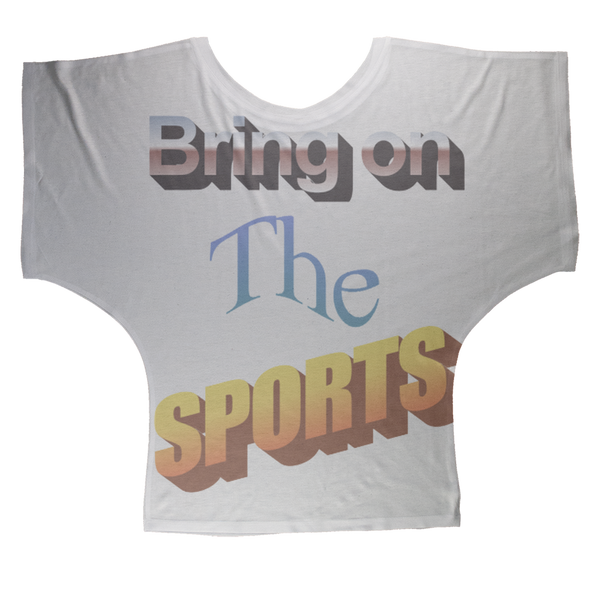 Bring On The Sports Sublimation Batwing Top