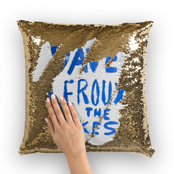 Dave Leroux And The Lakes Sequin Cushion Cover