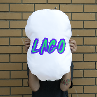 ELECTRIC NEON LAGO Giant Face Cushion
